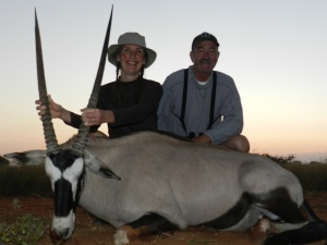 Holding the gemsbok