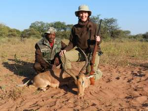Gemsbok and tracker